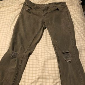 Dark green refuge jeans